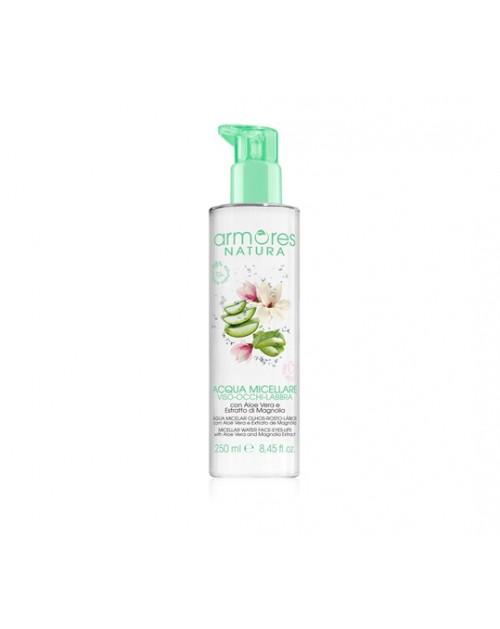 ARMORES NATURA micelinis vanduo su alijošiumi ir magnolijų ekstraktu 250 ml. -- UAB ESTELĖ