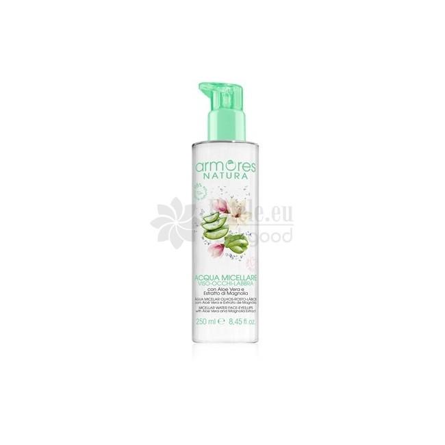 ARMORES NATURA micellar water with  aloe vera and magnolia extract 250 ml -- UAB ESTELĖ