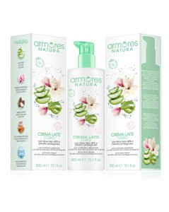 ARMORES NATURA Body Milk Cream with  aloe vera and Magnolia extract 300 ml -- UAB ESTELĖ