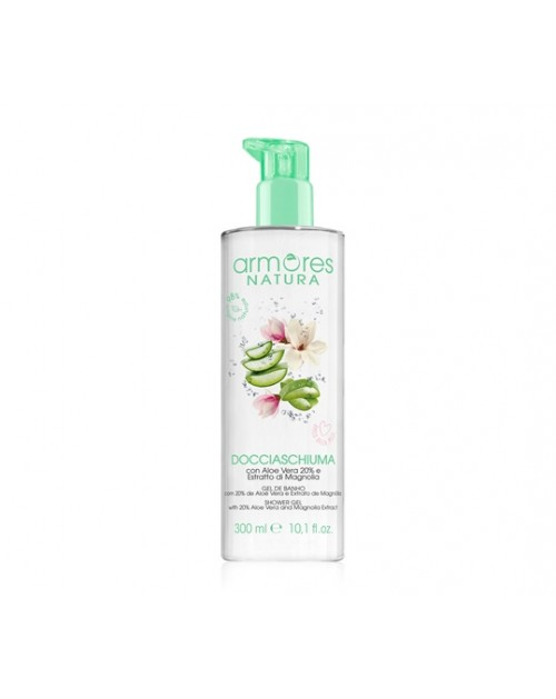 ARMORES NATURA Shower Gel with  aloe vera and Magnolia extract 300 ml -- UAB ESTELĖ