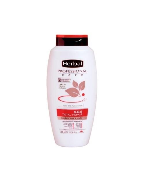 HERBAL Professional Total Repair Conditioner & Mask For Damage Hair 750 ml -- UAB ESTELĖ