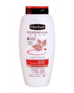 HERBAL Professional Total Repair Conditioner & Mask For Damage Hair 750 ml