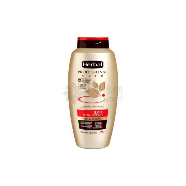 HERBAL profesionalus atkuriamasis šampūnas pažeistiems plaukams 750 ml